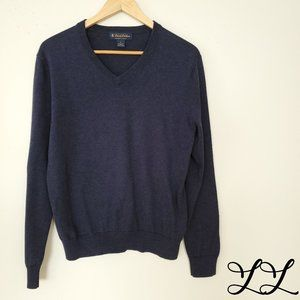 Brooks Brothers Sweater Dark Blue Supima Cotton